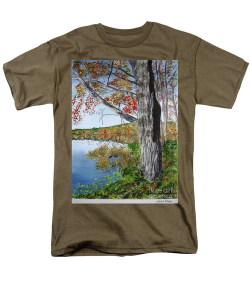 Men's T-Shirt  (Regular Fit) featuring the painting Fall Tree by Carol Flagg