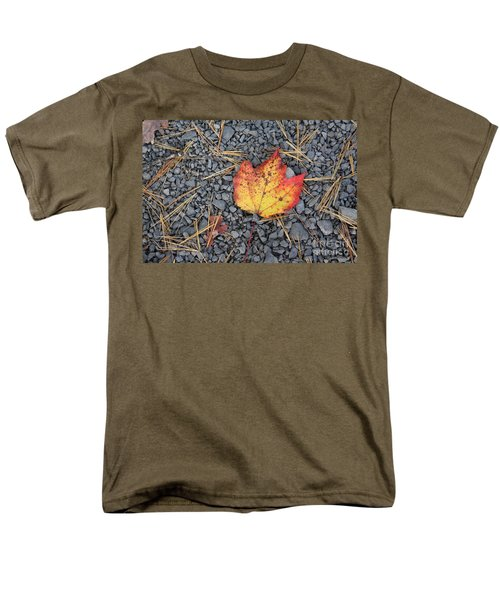 Men's T-Shirt  (Regular Fit) featuring the photograph Fallen Leaf by Dora Sofia Caputo Photographic Art and Design
