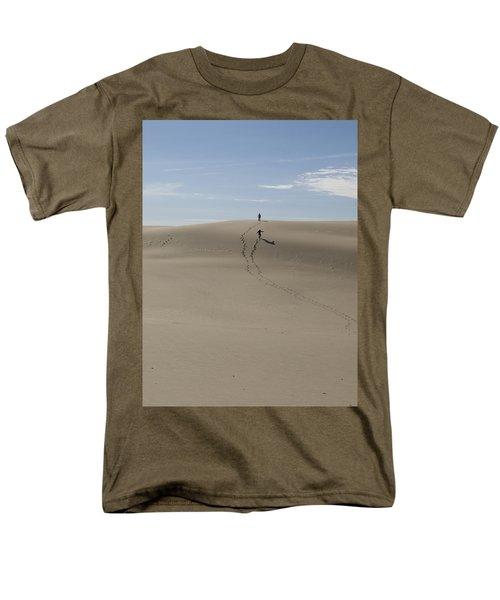 Men's T-Shirt  (Regular Fit) featuring the photograph Far Away In The Sand by Tara Lynn