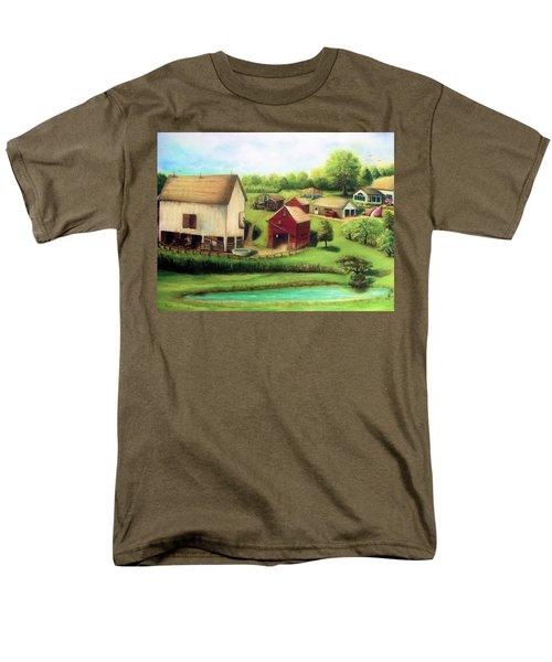 Men's T-Shirt  (Regular Fit) featuring the painting Farm by Bernadette Krupa