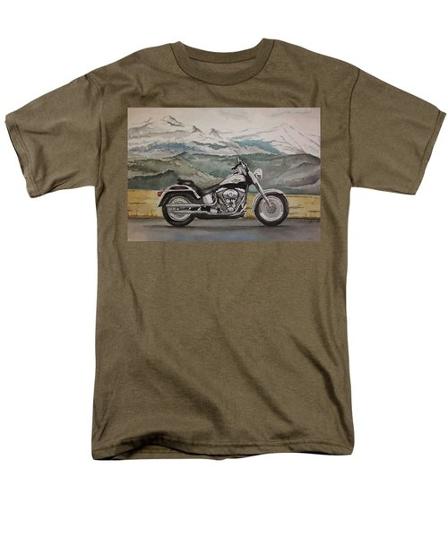 Men's T-Shirt  (Regular Fit) featuring the painting Fatboy by Rachel Hames
