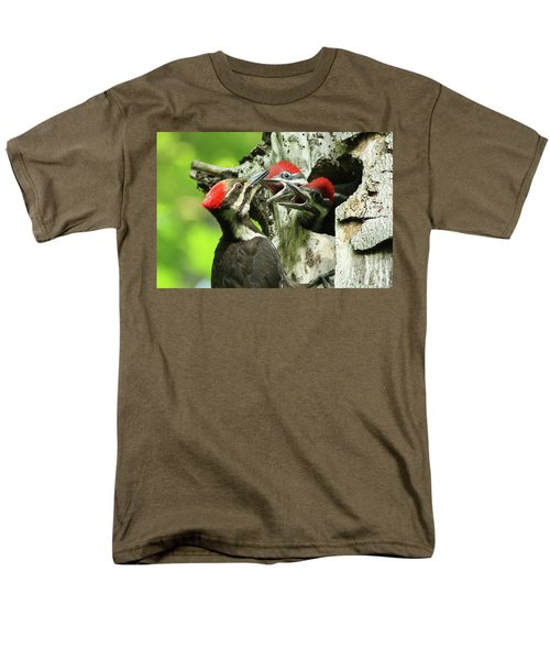 Female Pileated Woodpecker At Nest Men's T-Shirt  (Regular Fit) by Mircea Costina Photography