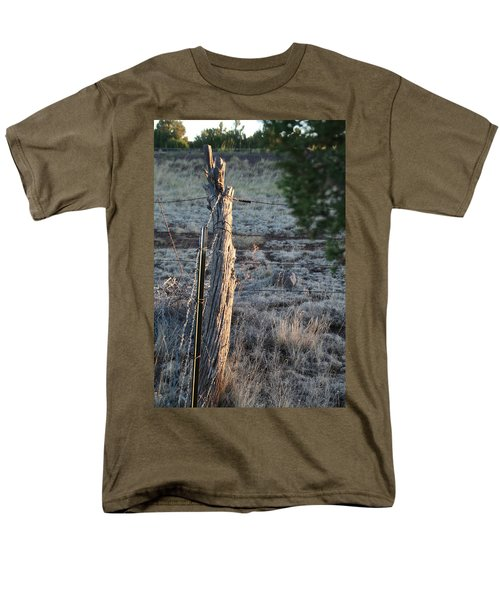 Men's T-Shirt  (Regular Fit) featuring the photograph Fence Post by David S Reynolds