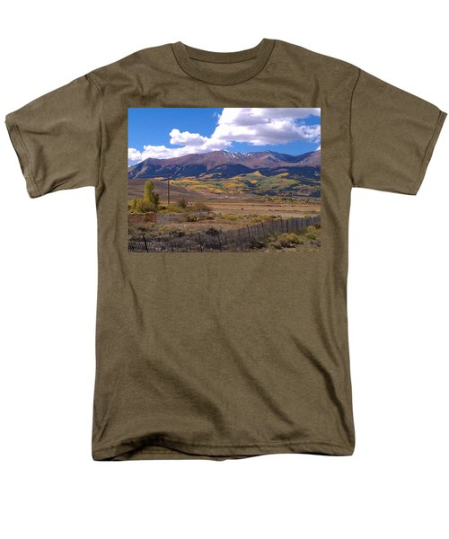 Fenced Nature Men's T-Shirt  (Regular Fit) by Fortunate Findings Shirley Dickerson