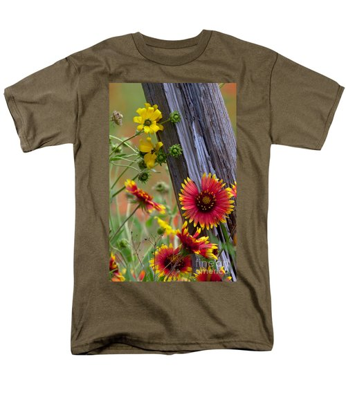 Fenceline Wildflowers Men's T-Shirt  (Regular Fit) by Robert Frederick