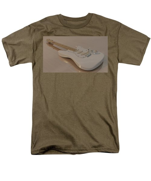 Fender Stratocaster In White Men's T-Shirt  (Regular Fit) by James Barnes