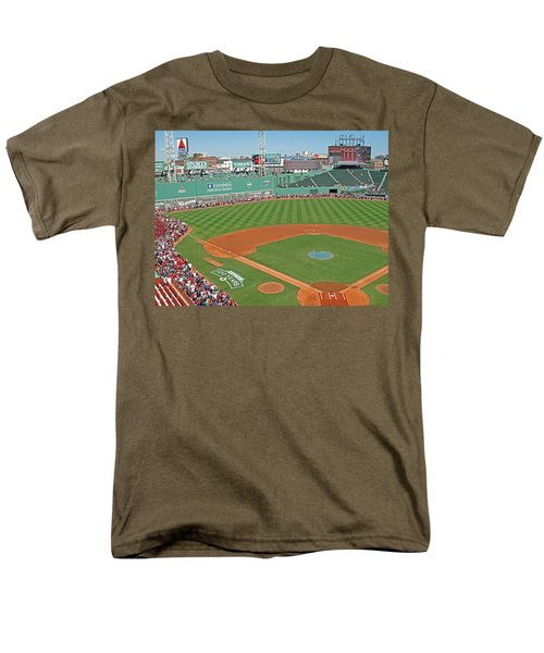 Men's T-Shirt  (Regular Fit) featuring the photograph Fenway One Hundred Years by Barbara McDevitt