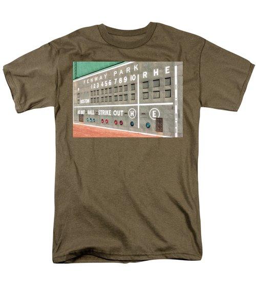 Fenway Park Scoreboard Men's T-Shirt  (Regular Fit) by Susan Candelario