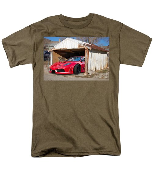 Men's T-Shirt  (Regular Fit) featuring the photograph Ferrari by Gunter Nezhoda