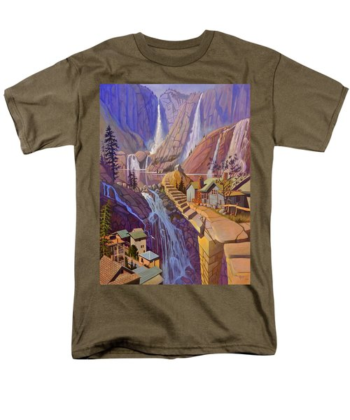 Men's T-Shirt  (Regular Fit) featuring the painting Fibonacci Stairs by Art James West