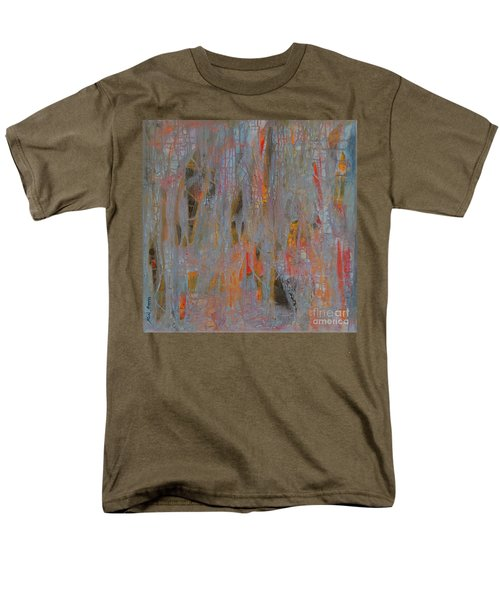 Men's T-Shirt  (Regular Fit) featuring the painting Fibres Of My Being by Mini Arora