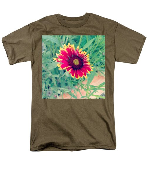 Fire Daisy Men's T-Shirt  (Regular Fit) by Thomasina Durkay