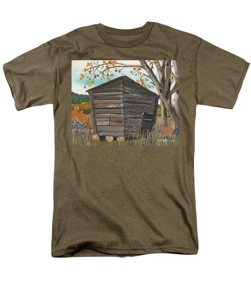 Autumn - Shack - Woodshed Men's T-Shirt  (Regular Fit) by Jan Dappen
