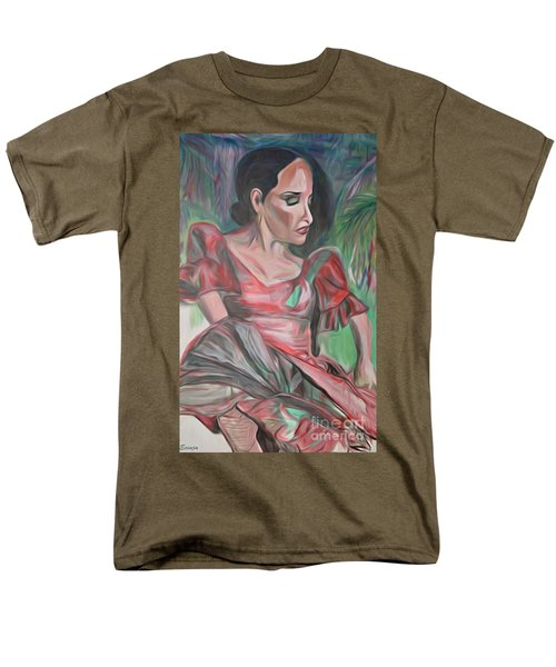 Men's T-Shirt  (Regular Fit) featuring the painting Flamenco Solo by Ecinja Art Works