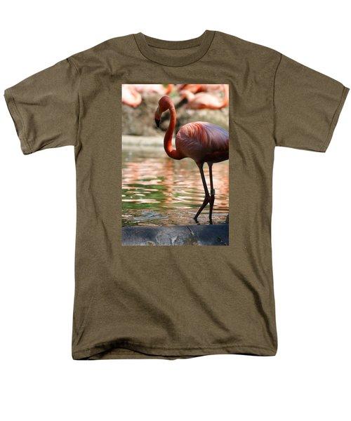 Flamingo Men's T-Shirt  (Regular Fit) by Heidi Poulin