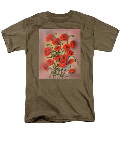 Flander's Poppies Men's T-Shirt  (Regular Fit) by Randy Burns