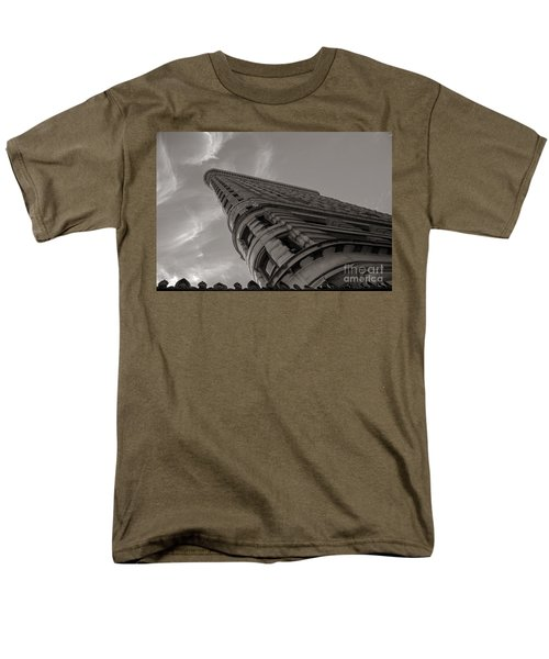 Men's T-Shirt  (Regular Fit) featuring the photograph Flat Iron Building by Angela DeFrias