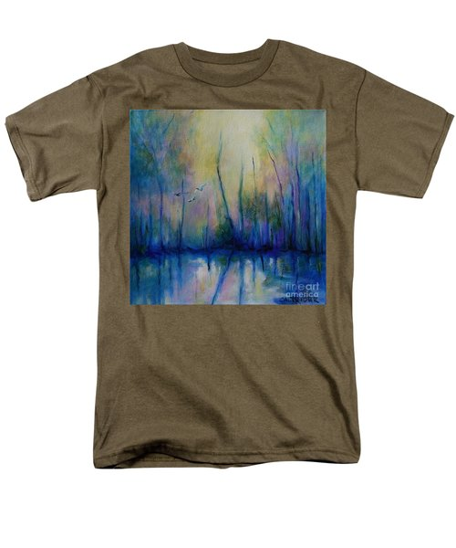 Men's T-Shirt  (Regular Fit) featuring the painting Flight In Morning Symphony by Alison Caltrider