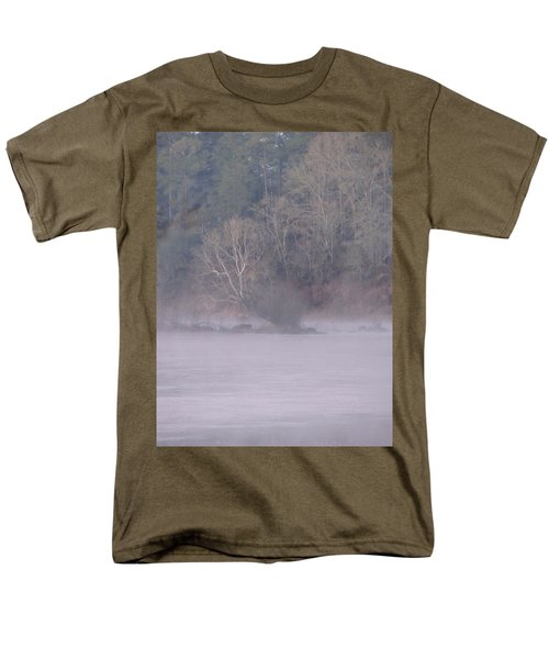 Men's T-Shirt  (Regular Fit) featuring the pyrography Flint River 10 by Kim Pate