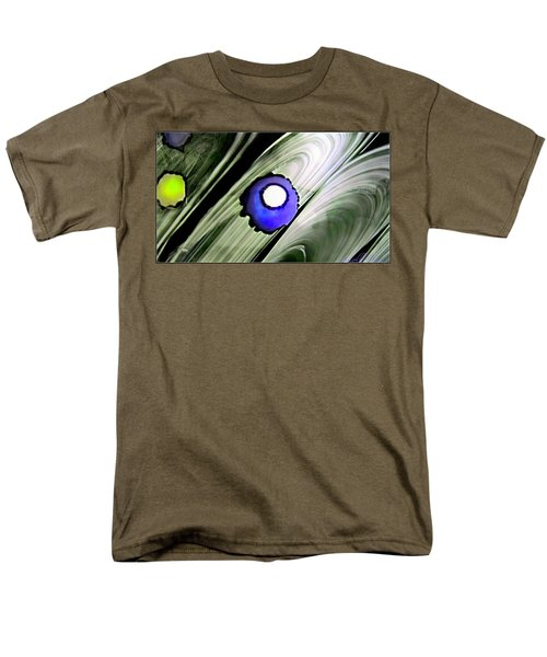 Floating Dot Abstract Alcohol Inks Men's T-Shirt  (Regular Fit) by Danielle  Parent