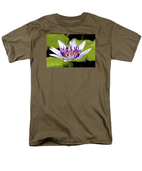 Men's T-Shirt  (Regular Fit) featuring the photograph Floating Purple Waterlily by Lehua Pekelo-Stearns