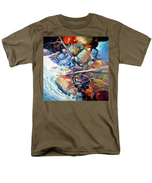 Men's T-Shirt  (Regular Fit) featuring the painting Flood Plain by Rae Andrews