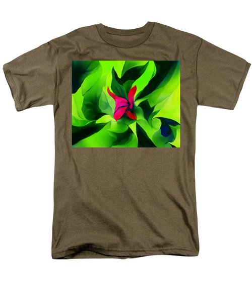 Men's T-Shirt  (Regular Fit) featuring the digital art Floral Abstract Play by David Lane