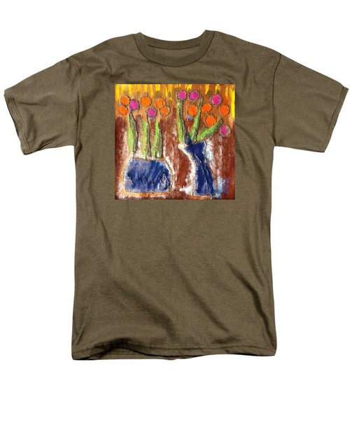 Men's T-Shirt  (Regular Fit) featuring the painting Floral Puffs by Cleaster Cotton