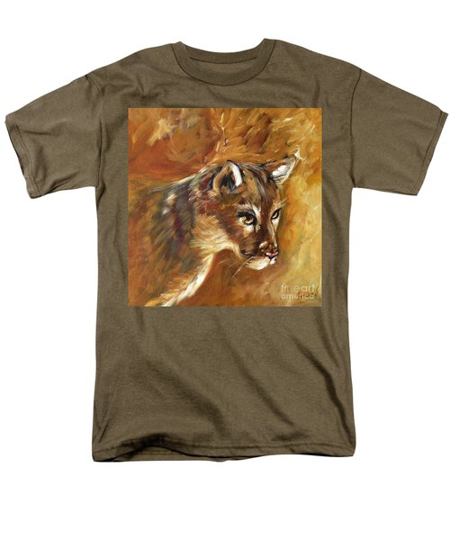 Florida Panther Men's T-Shirt  (Regular Fit) by Karen  Ferrand Carroll