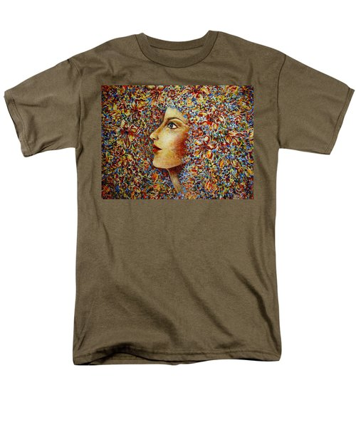 Men's T-Shirt  (Regular Fit) featuring the painting Flower Goddess. by Natalie Holland