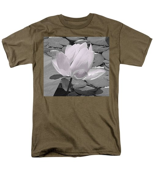 Flower Lilly Pad Men's T-Shirt  (Regular Fit) by Steve Archbold