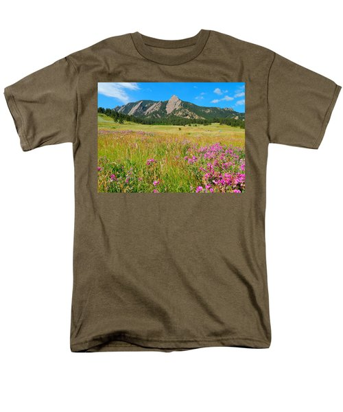 The Flatirons Colorado Men's T-Shirt  (Regular Fit) by Dan Miller