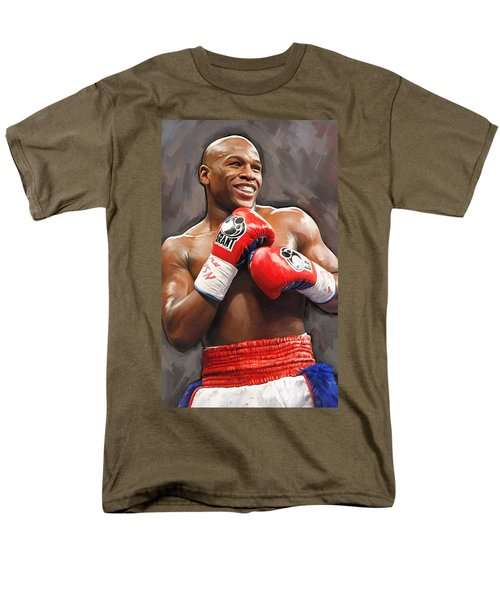 Floyd Mayweather Artwork Men's T-Shirt  (Regular Fit) by Sheraz A