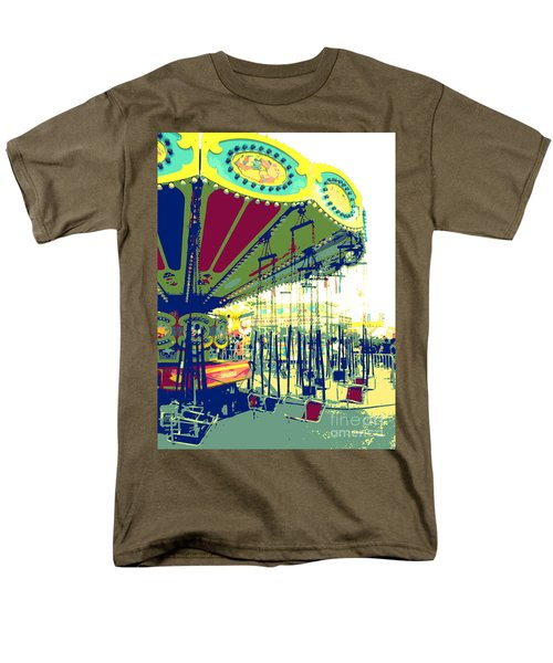Men's T-Shirt  (Regular Fit) featuring the digital art Flying Chairs by Valerie Reeves