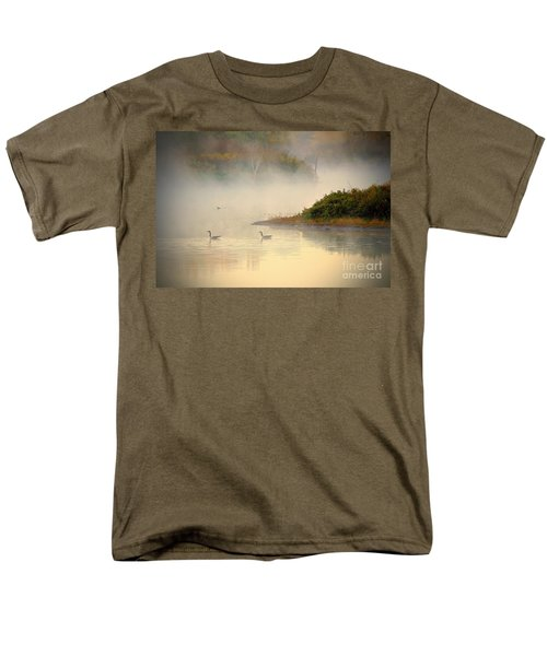 Foggy Autumn Swim Men's T-Shirt  (Regular Fit)