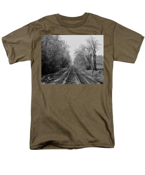 Foggy Ending In Black And White Men's T-Shirt  (Regular Fit)