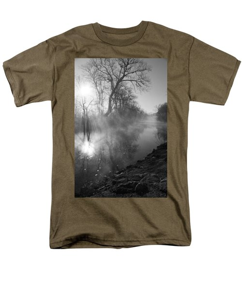 Foggy River Morning Sunrise Men's T-Shirt  (Regular Fit) by Jennifer White