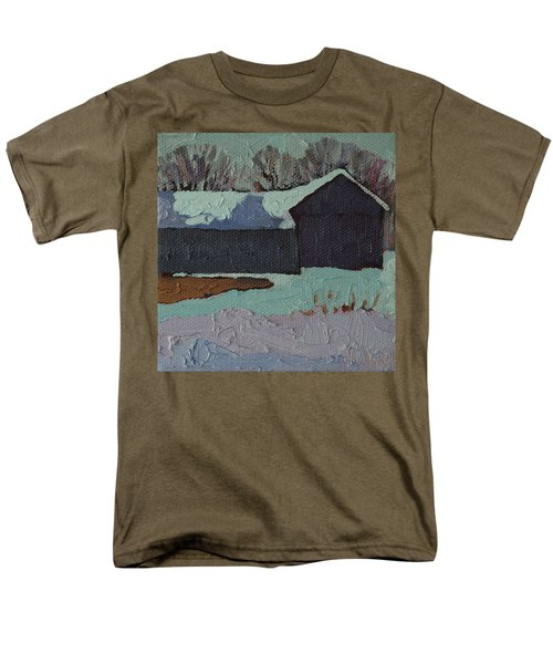Foley Mountain Farm Men's T-Shirt  (Regular Fit) by Phil Chadwick
