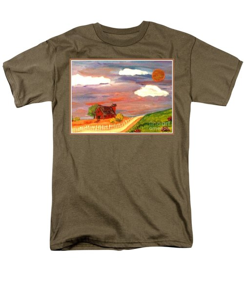 Men's T-Shirt  (Regular Fit) featuring the painting Folk Art by Bobbee Rickard