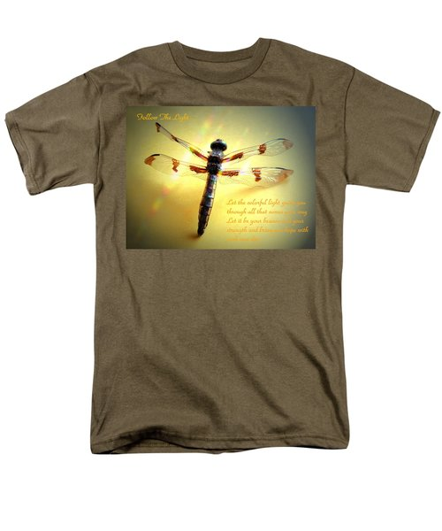 Follow The Light Men's T-Shirt  (Regular Fit) by Joyce Dickens