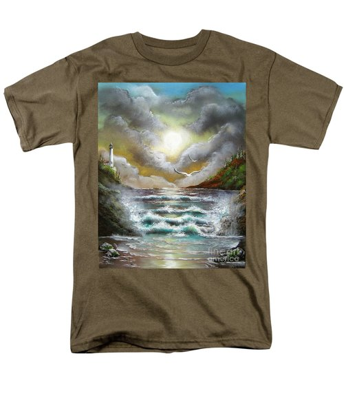 Men's T-Shirt  (Regular Fit) featuring the painting Follow The Wind by Patrice Torrillo