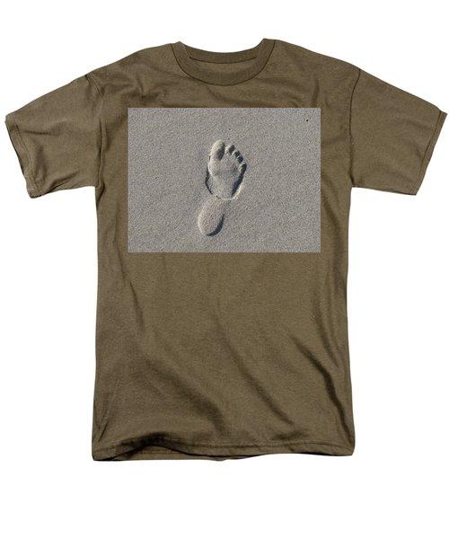Footprint In The Sand Men's T-Shirt  (Regular Fit) by Ellen Meakin