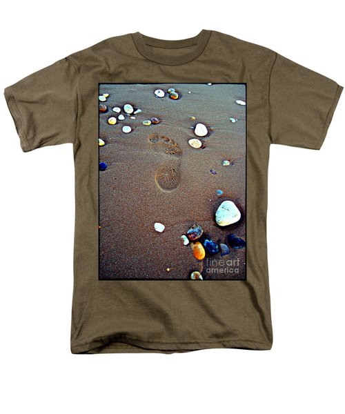 Men's T-Shirt  (Regular Fit) featuring the photograph Footprint by Nina Ficur Feenan