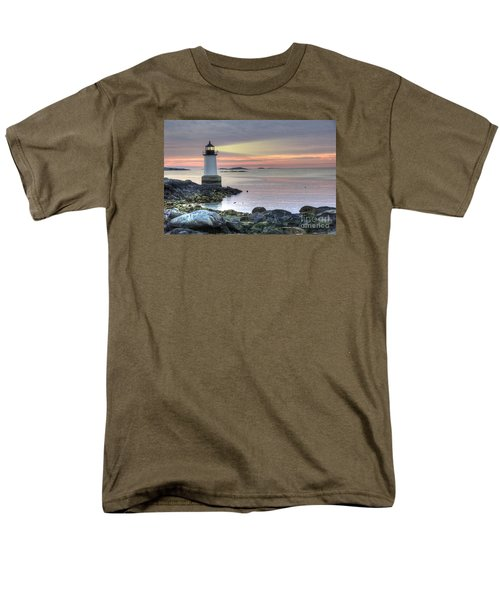 Fort Pickering Lighthouse At Sunrise Men's T-Shirt  (Regular Fit) by Juli Scalzi