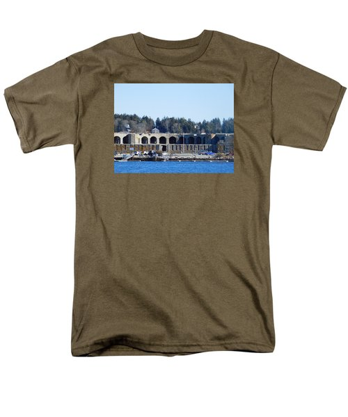 Fort Popham In Maine Men's T-Shirt  (Regular Fit) by Catherine Gagne