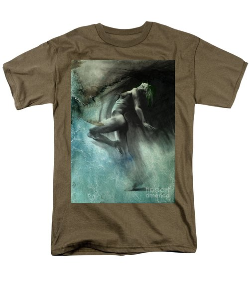 Men's T-Shirt  (Regular Fit) featuring the drawing Fount I - Textured by Paul Davenport