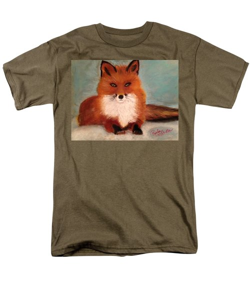 Fox In The Snow Men's T-Shirt  (Regular Fit) by Renee Michelle Wenker
