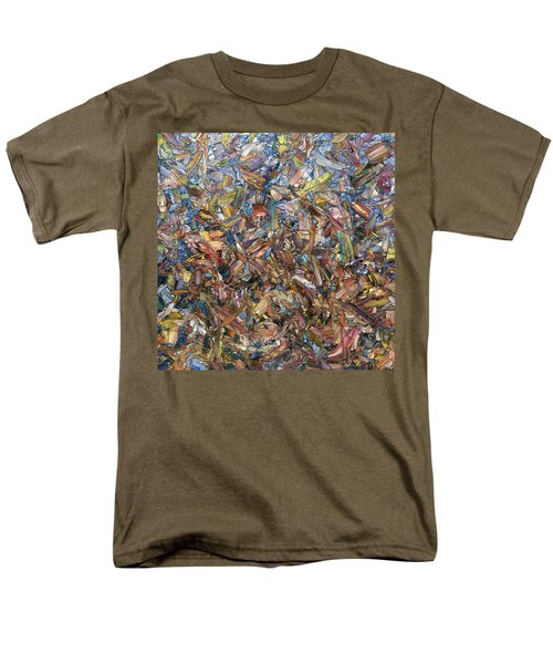 Men's T-Shirt  (Regular Fit) featuring the painting Fragmented Fall - Square by James W Johnson