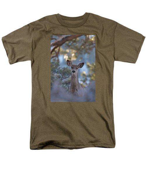 Framed Deer Head And Shoulders Men's T-Shirt  (Regular Fit) by Duncan Selby