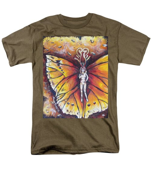 Free As The Flame Men's T-Shirt  (Regular Fit) by Shana Rowe Jackson